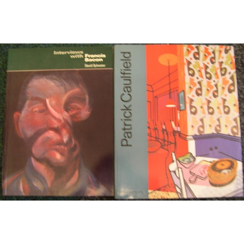 550 - Approx 13 books on 20thC artists including 3 on Uglow, 2 on Patrick Caulfield, Jacub Epstein, Bacon ...