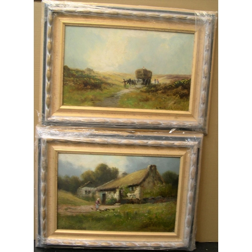 693 - Pair of Henry Hadfield CUBLEY (1858-1934) oils,