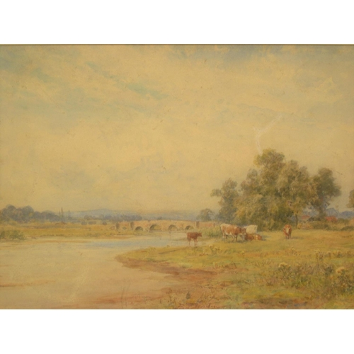 823 - Indistinctly signed Edwardian watercolour
