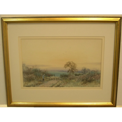 668 - Henry John Sylvester STANNARD (1870-1951) watercolour, To pastures new, signed, modern mount & frame...