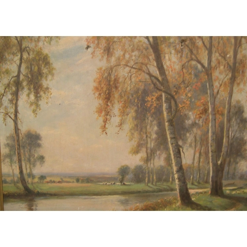 853 - Indistictly signed, early 20thC oil on canvas,