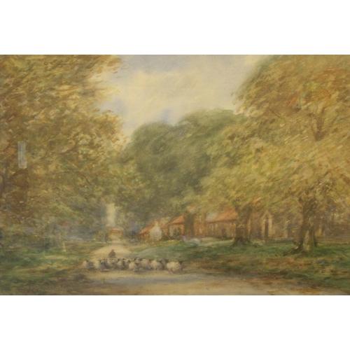836 - Indistinctly signed (David J P????) impressionist watercolour