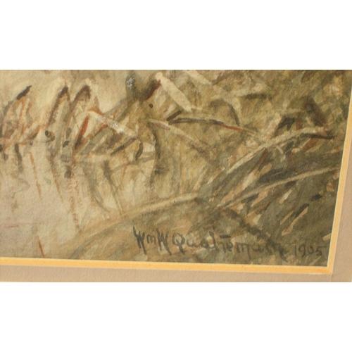 842 - Pair of William Wells QUATREMAIN (1857-1930) watercolours,