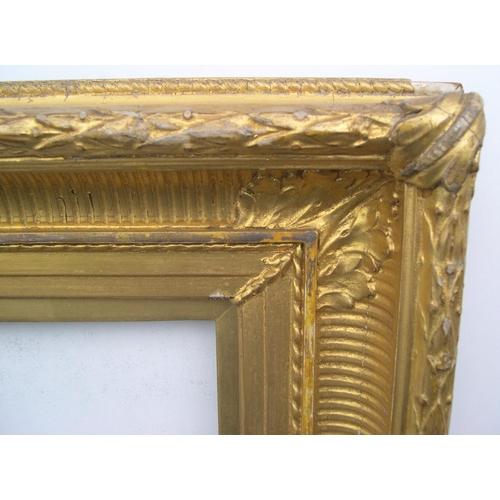 558 - Victorian large-sized gilt gesso frame,  Internal measurements are - 55 x 41 cm...