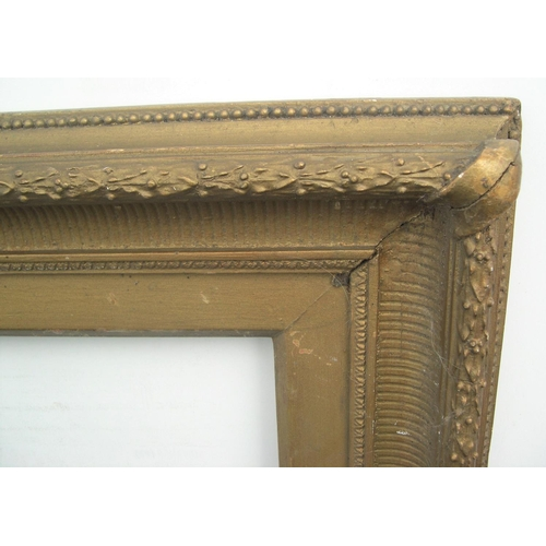 560 - 1 large Victorian gilt gesso frame,  Internal measurements are - 46 x 66 cm...