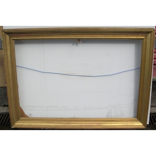 561 - 2 large, early 20thC frames,  Internal measurements are - 65 x 95 cm & 49 x 58 cm...