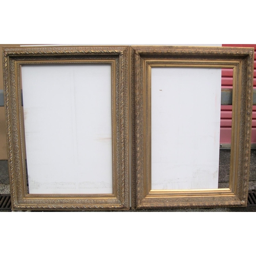 565 - Pair of large modern frames & 1 other older large frame (3),  Internal measurements are - Pair measu...