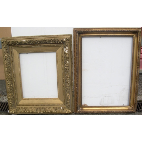 567 - 2 late Victorian gesso frames (both with minor losses'),  Internal measurements are - 47.5 x 68.5 cm...