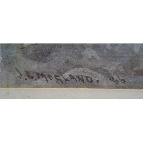 614 - J G Morland 1888 impressionist watercolour