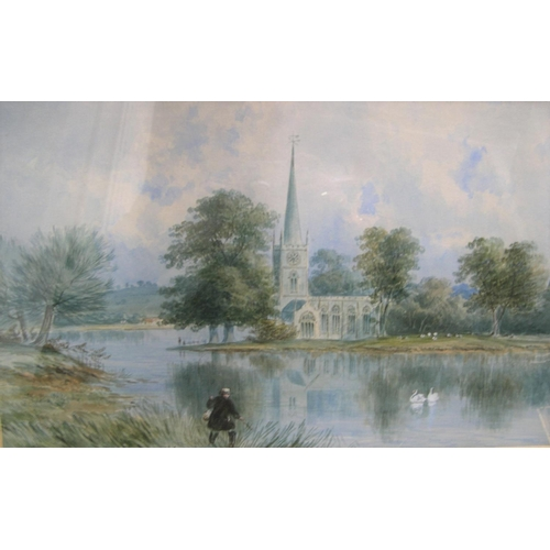 617 - Indistinctly signed, 1874 watercolour,