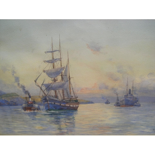686 - W Martin c1900 watercolour, entitled