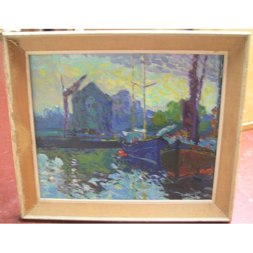 623 - Large, Norman LAYCOCK (1920-1985) impressionist oil