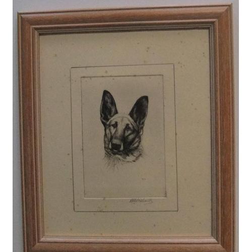 310 - Ronald Basil Emsley WOODHOUSE (1897-?) etching