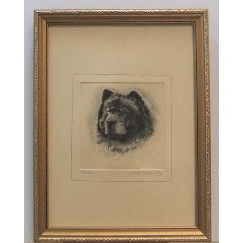 419 - Ronald Basil Emsley WOODHOUSE (1897-?) etching