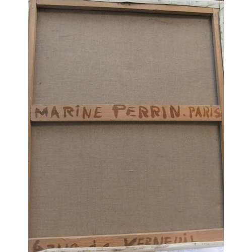 328 - Marine Perrin, 1970s French post-impressionist oil on canvas, study