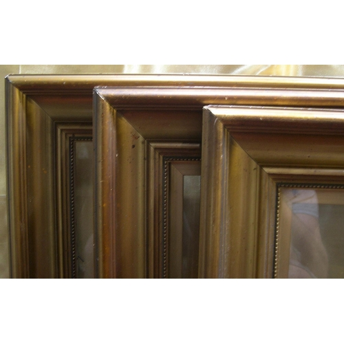 300 - 8 small old frames, some glazed,  Smallest 32 x 23 cm,  largest 31 x 47 cm...