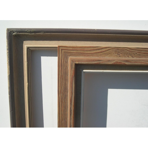 306 - 2 large wood frames,  Internal measurements are - 51 x 70 cm & 51 x 76 cm...