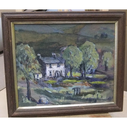 423 - 4 John B Clough oils, 3 framed,  All in good condition...