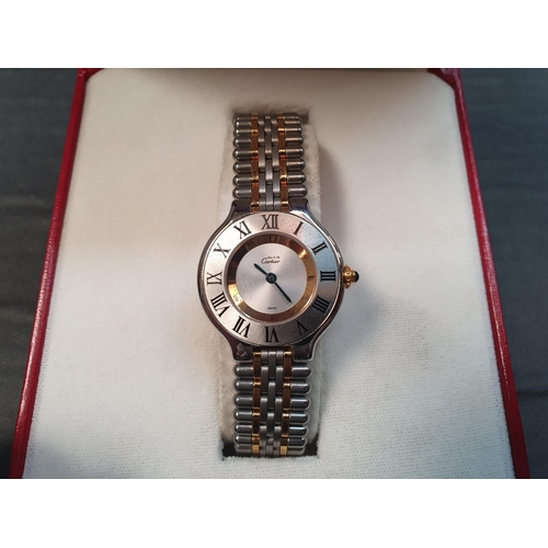 90 - Cartier Must 21 watch, boxed, 30 years old - as new, never worn!...
