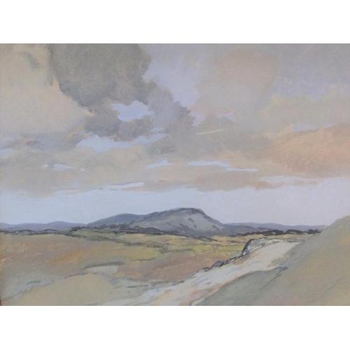 404 - Bertram PRANCE (1889-1959) gouache, extensive landscape, signed, framed,  28 x 34 cm  Fine and clean...