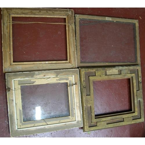 570 - 4 old small/medium sized frames,  Average internal size is - 26 x 31 cm...