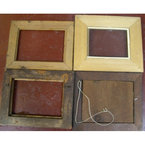 571 - 4 old small frames,  Average internal size is - 17 x 22 cm...