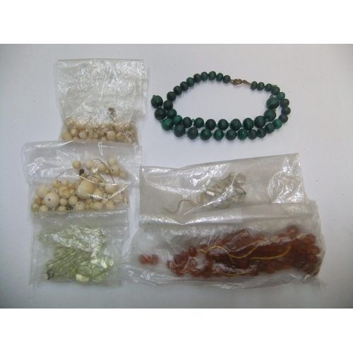 36 - 6 Edwardian ladies necklaces, all need re-stringing, including 2 bone examples etc...