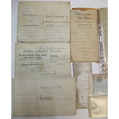 255 - Collection of Victorian indentures etc...
