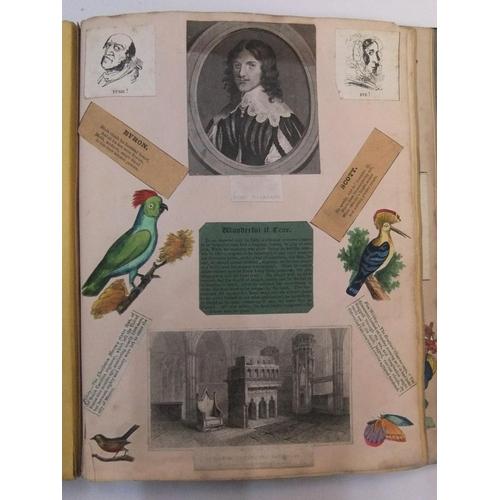 245 - Good quality large Victorian scrapbook...