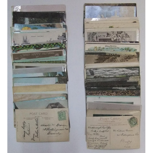 249 - Collection of approx 90 antique postcards...