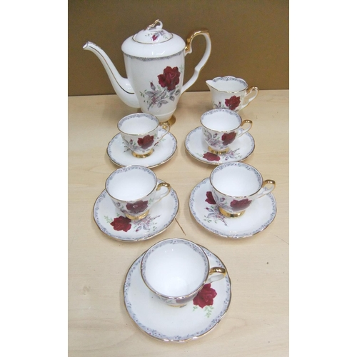 145 - Royal Stafford 12 Piece Bone China tea set to include 5 cups and saucers, tea pot & milk jug...
