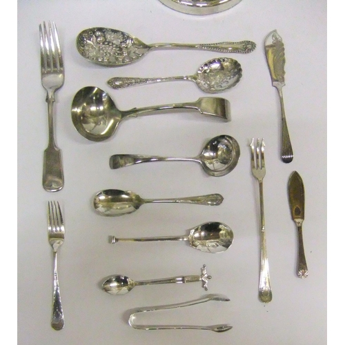 198 - Good quality silver plated candelabra & a small quantity of silver plated cutlery...