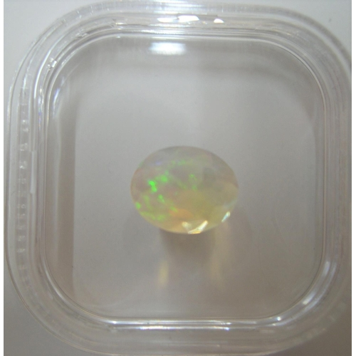 13 - Certified Ethiopian Opal, oval cut, 1.40ct...