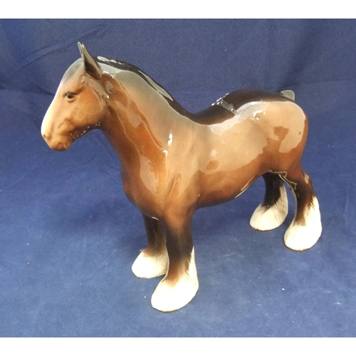 155 - Large Beswick, Clydesdale horse, 21cm high - excellent condition...