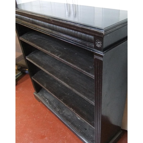 292 - Fine Victorian ebonised wood book-case, complete and in good condition.  107cm in length, 31cm deep ...