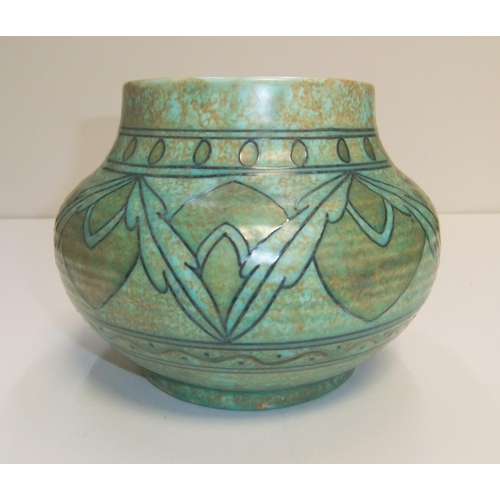 157 - Charlotte Rhead, Crown Ducal bowl  16 x 19 cm  Fine condition without any problems...