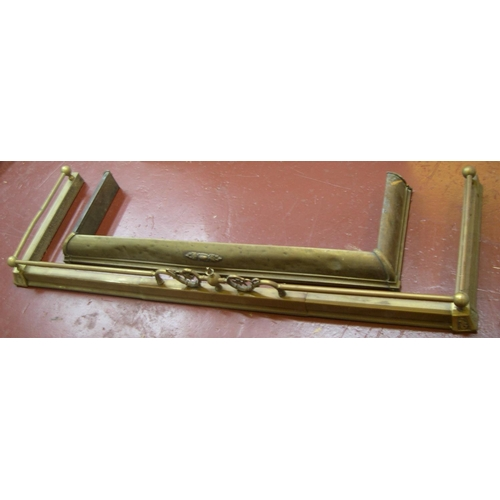 202 - 2 antique brass fenders, one, extendable  1 is 120cm in length, the other 161 cm...