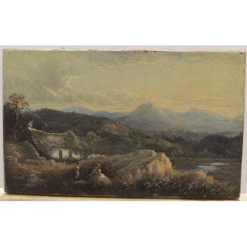 402 - Indistinctly signed Victorian oil on relined canvas
