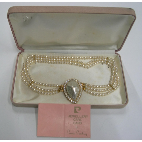 28 - Vintage Pierre Cardin simulated pearl necklace in original box...