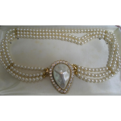 28 - Vintage Pierre Cardin simulated pearl necklace in original box