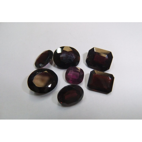 50 - 7 Garnets, various cuts,   approx 25.5 cts...