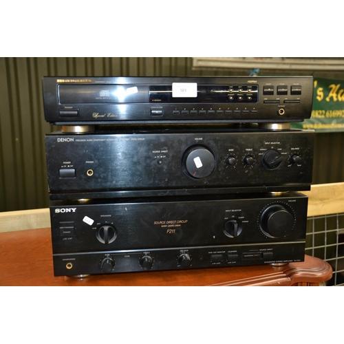 Marantz CD-63SE CD player, Denon PMA-255UK Amp & Sony F211