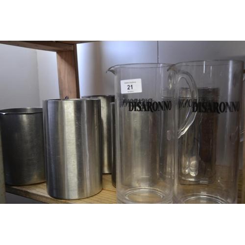 21 - 2 Disoranno water jugs + various wine coolers etc....
