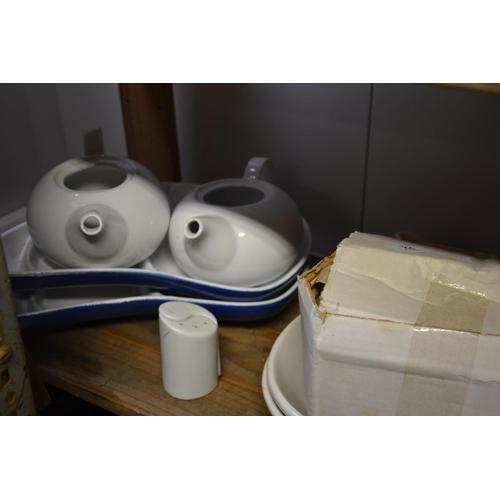 22 - Sets of salt + pepper & ceramic servers etc....