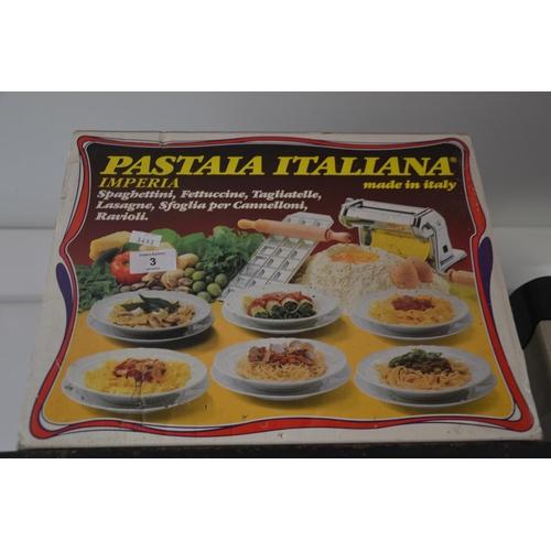 3 - Pasta maker in box...