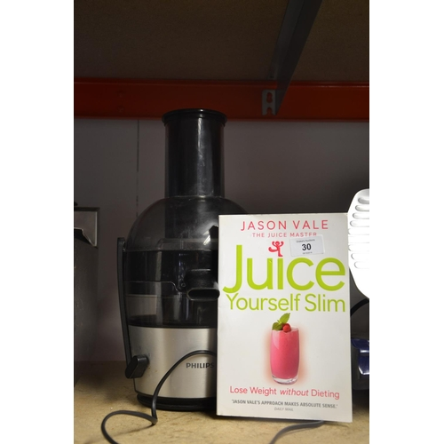 30 - Phillips juicer with juice book...