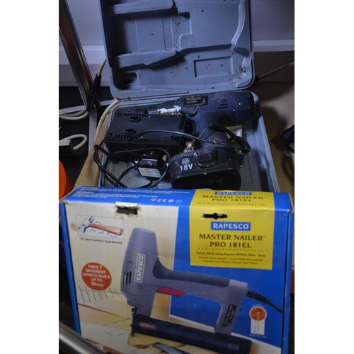 36 - Rapesco master nailer & cordless Ferm drill...