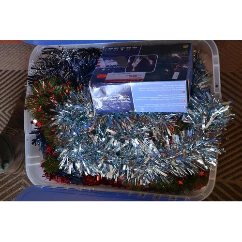 59 - Box of Christmas decorations...