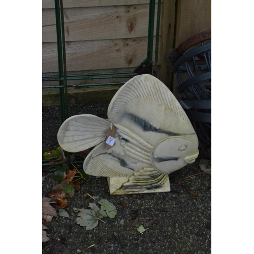 37 - Angel fish garden ornament...