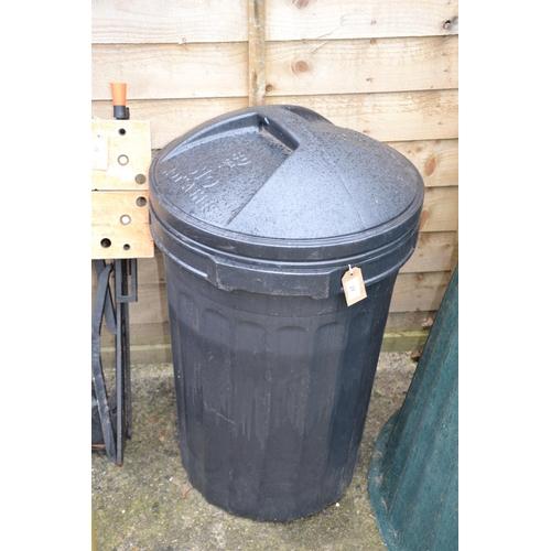27 - Black lidded bin...
